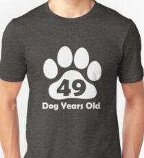 49 Dog Years Old Funny 7th Birthday Gift Puppy Lovers T-Shirt