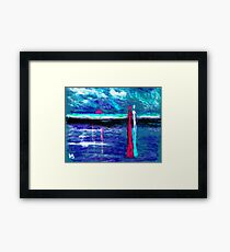 Beach lovers Framed Print
