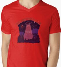 UFO Beobachter Club T-Shirt mit V-Ausschnitt für Männer