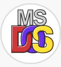 MS-DOS Logo Sticker