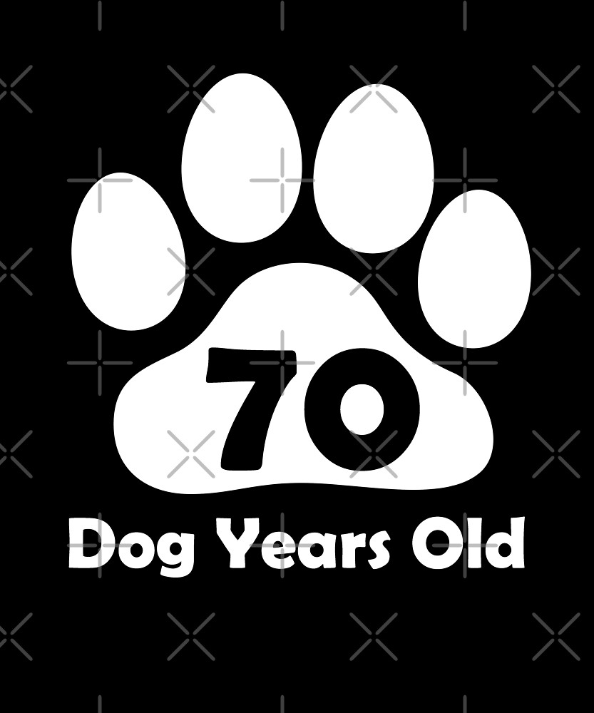 70 Dog Years Old Funny 10th Birthday Gift Puppy Love by SpecialtyGifts