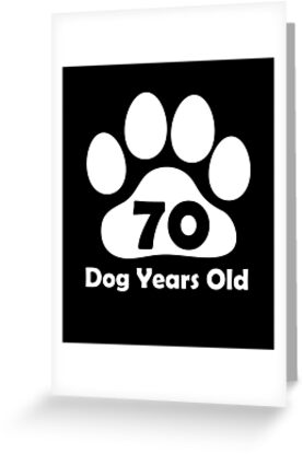 70 Dog Years Old Funny 10th Birthday Gift Puppy Love
