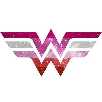 Wonder Pride - Lesbian by barflybart
