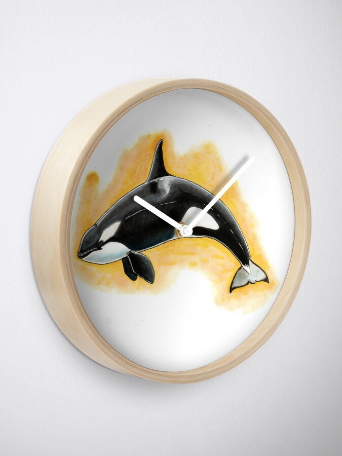 Alternate view of CorkyII - Draw Every Captive Orca Project nr. 1 Clock