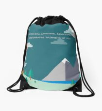 Somewhere Drawstring Bag