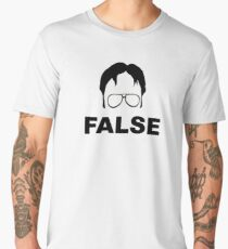 Dwight Schrute False Men's Premium T-Shirt