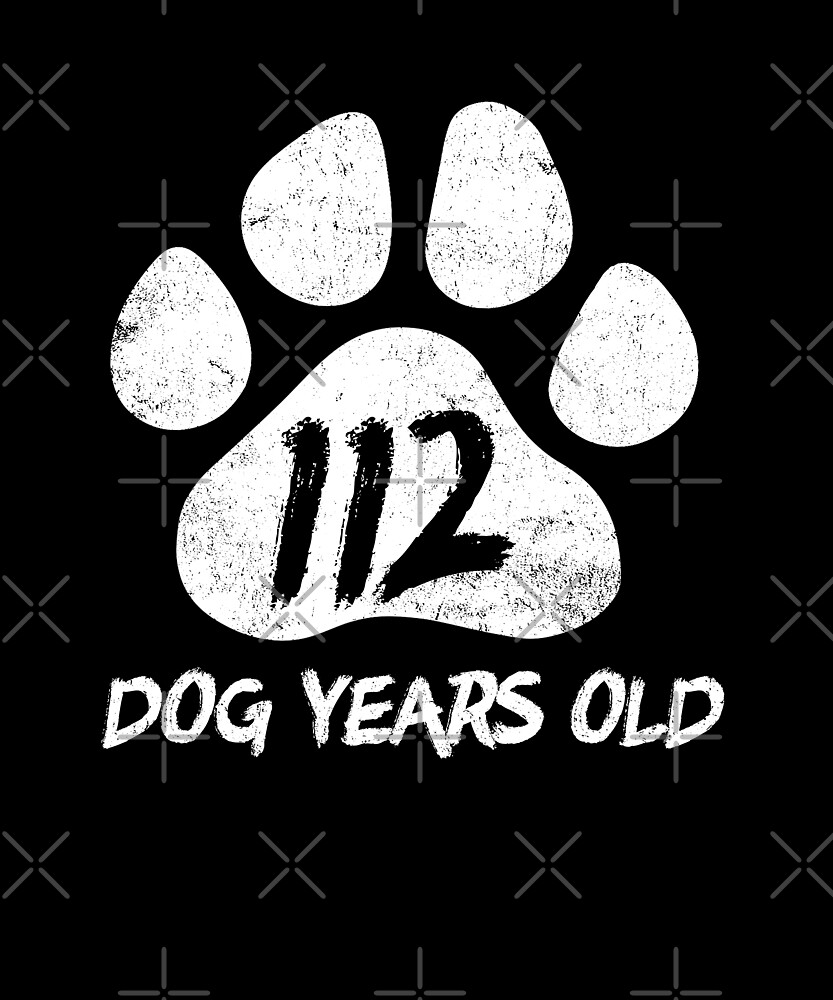112 Dog Years Old Funny 16ht Birthday Teenager Gift by SpecialtyGifts