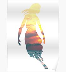 Collide with the Sky sunset Poster