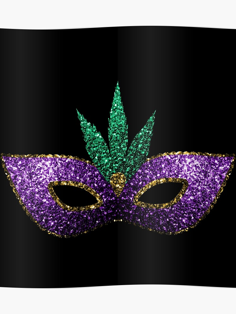 20d28d7f Mardi Gras Mask Purple Green Gold Sparkles