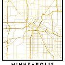 MINNEAPOLIS MINNESOTA CITY STREET MAP ART by deificusArt