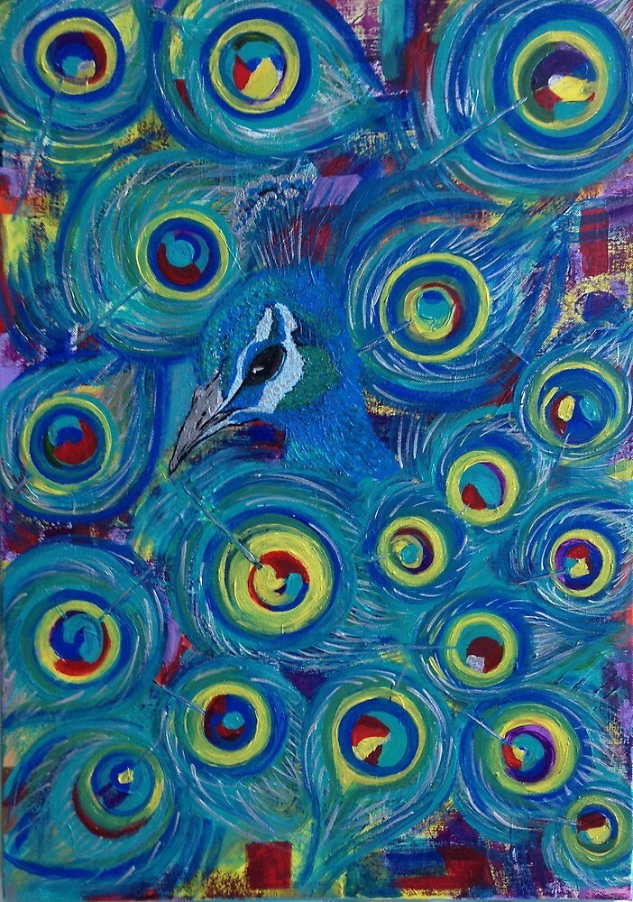 hidden peacock  by ElenaT121