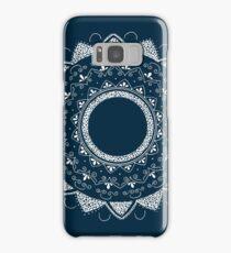 Precious white mandala on blue Samsung Galaxy Case/Skin