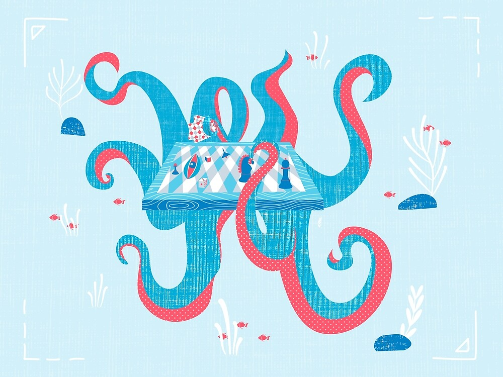 Octopus The Chess Table by Lina Leusenko