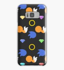 Sonic and Tails chaos emeralds (black) Samsung Galaxy Case/Skin