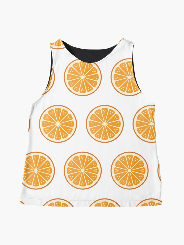 Alternate view of Oranges on white Contrast Tank