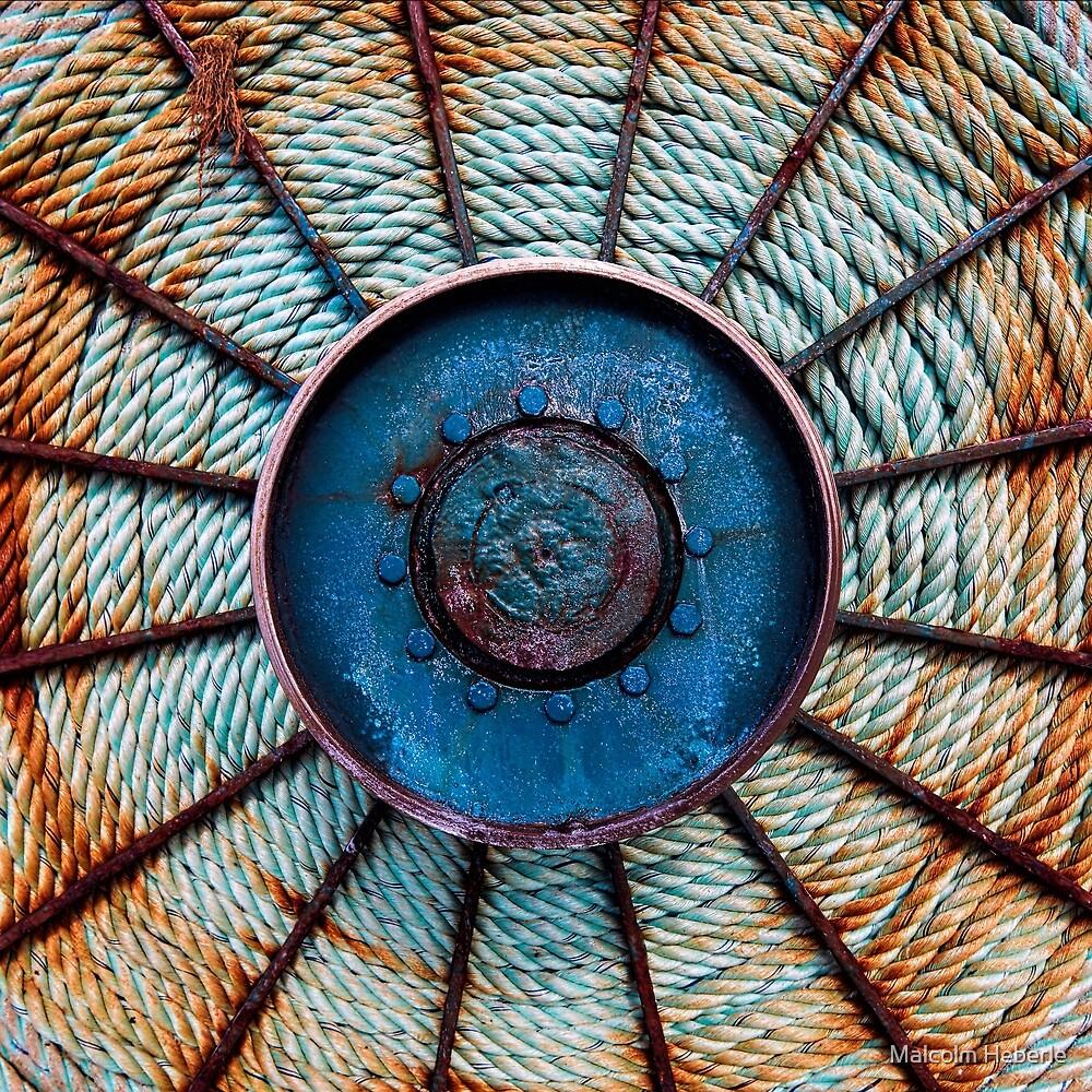 Minimalism #05 ...  Fishing Boat Net  Reel by Malcolm Heberle