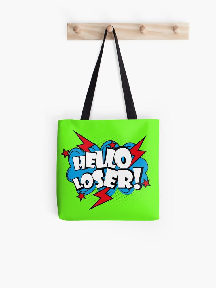 Bonjour Texte Pop Art Loser Comique Tote Bag