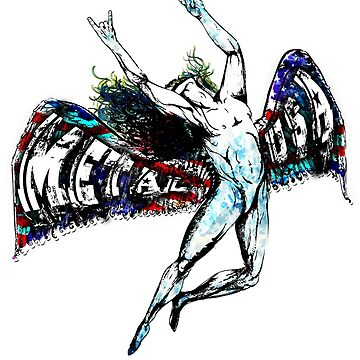 ICARUS THROWS THE HORNS - metal usa grunge flag   *find unlisted gems in my portfolio* by sleepingmurder