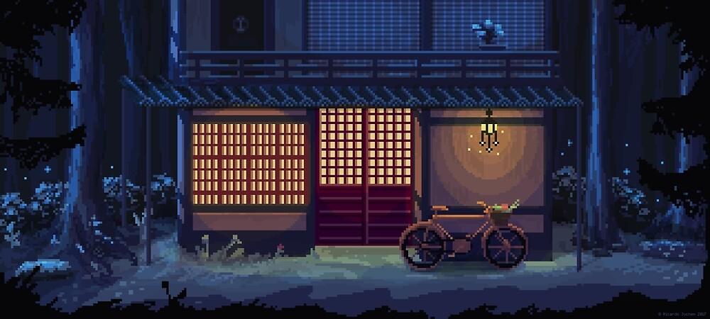 Night - A Pixel Art Adventure Background by ricardojuchem