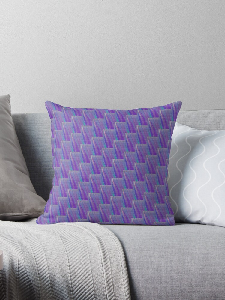 SOFT PURPLE SPLASH CHECK PATTERN - SOFT PURPLE ACCENTS WITH TEXTURE. by ozcushionstoo