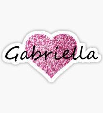 Gabriella pink glitter heart Sticker