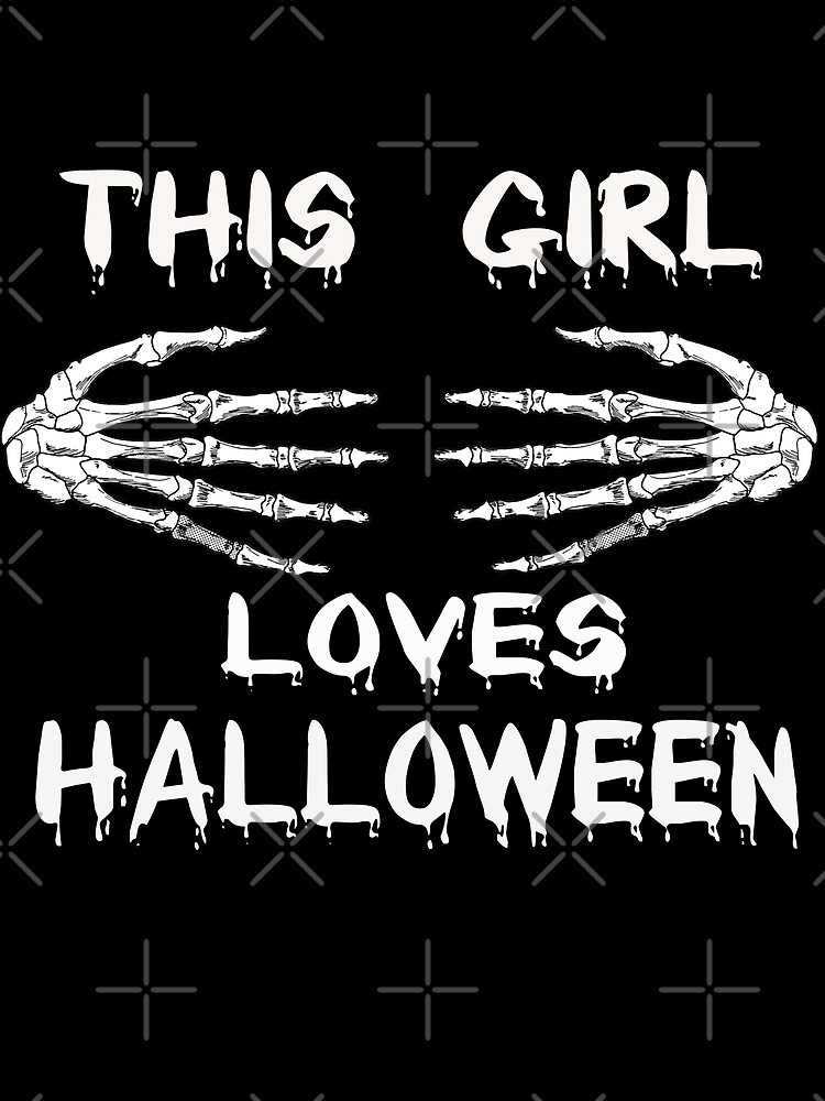 This Girl Loves Halloween T-Shirt by Kimcf