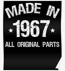 50th Birthday Made In 1967 T-shirt Poster
