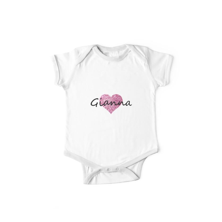 Gianna pink glitter heart by Obercostyle