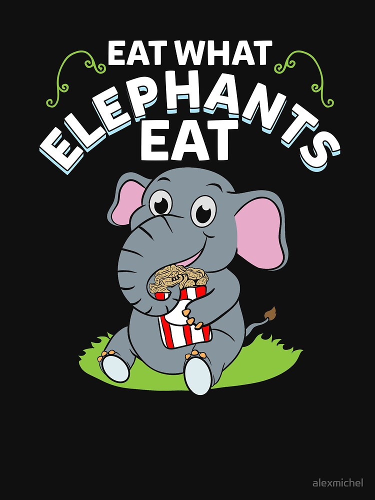 Eat what elephants eat - vegan gift by alexmichel