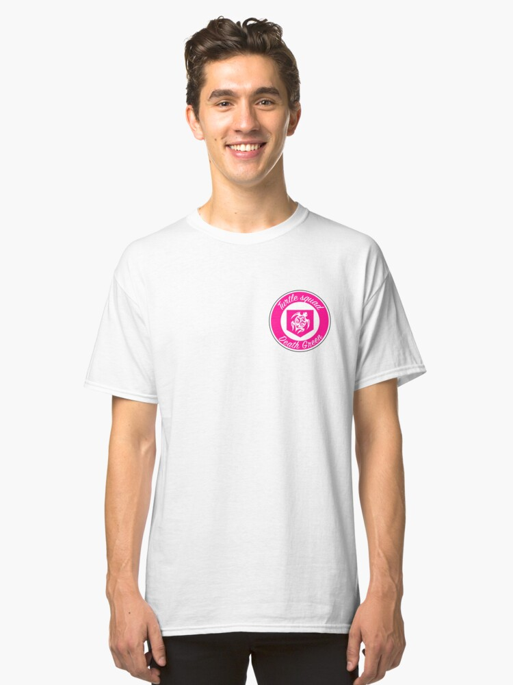 Pink Turtle Squad Logo Classic T-Shirt Front