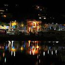 Night light reflections by Steven Maynard