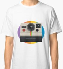 Polaroid Camera And Logo Classic T-Shirt