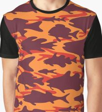 Camouflage Fish - Autumn Fall Graphic T-Shirt