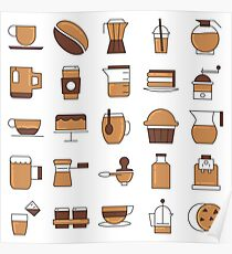 Coffee Break Pattern Design Poster