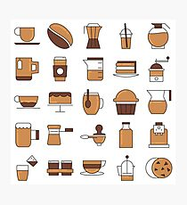 Coffee Break Pattern Design Photographic Print