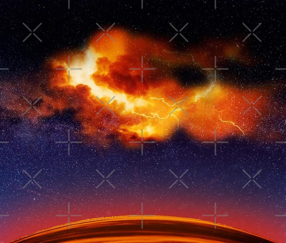 War in the Heavens - Digital Space Art by nextstepgd