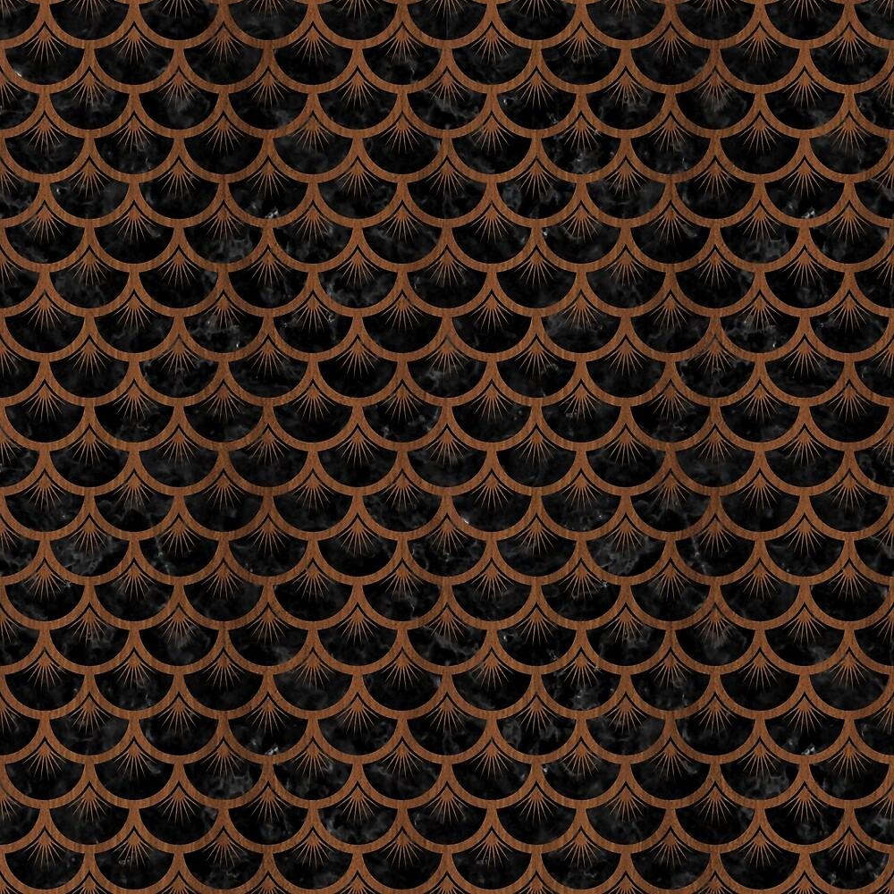 SCALES3 BLACK MARBLE & BROWN WOOD by johnhunternance