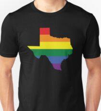TEXAS STATE GAY PRIDE FLAG Unisex T-Shirt
