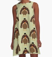 Cool Turkey with sunglasses Happy Thanksgiving A-Line Dress