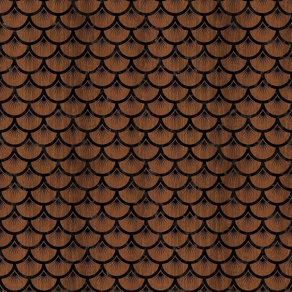 SCALES3 BLACK MARBLE & BROWN WOOD (R) by johnhunternance