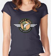 Camiseta entallada de cuello redondo ¡El ejército de Alice! (Beneficios del Programa de adopción de Greyhound Nueva Gales del Sur)