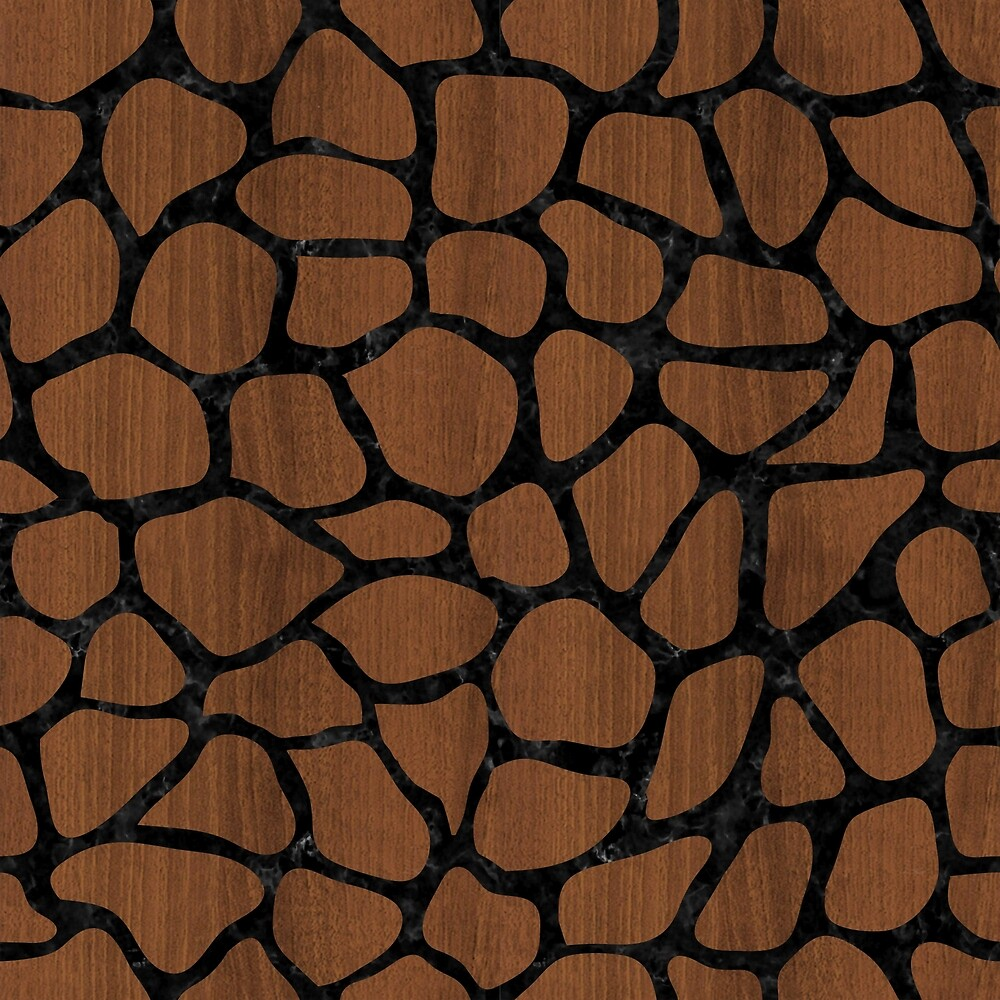 SKIN1 BLACK MARBLE & BROWN WOOD by johnhunternance