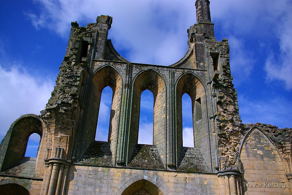 Empty Windows - Byland Abbey by Trevor Kersley