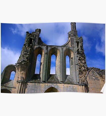Empty Windows - Byland Abbey Poster