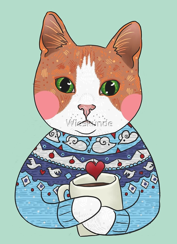Cat sweater hot chocolate by Wieskunde
