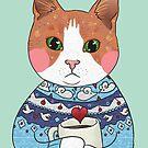 Cat sweater hot chocolate by Wieskunde