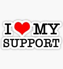 I Love My Support Sticker