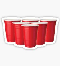 Red Solo Cup Beer Pong Formation Sticker