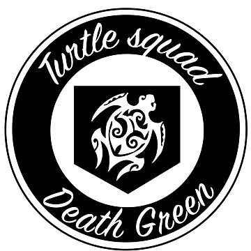 black logo turtle squad by deathgreen