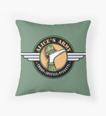 Alice's Army! (profits to Greyhound Adoption Program New South Wales) Throw Pillow